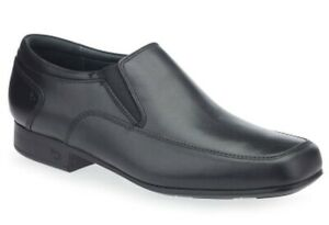 Start Rite Tyler Black Leather Slip-on Smart / Formal School Shoes Free Delivery
