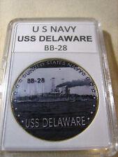 US NAVY - USS DELAWARE / BB-28 Commemorative Challenge Coin