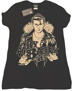 New Cry Baby Johnny Depp Movie Women Black Short Sleeve T-Shirt