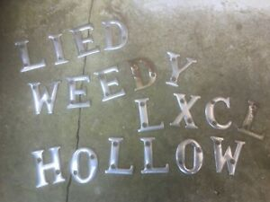 Vintage 19 Metal Letters Crafting-Chilled-Chewy-Cello-Excelled-Woodlice-Eyehole