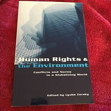 LYUBA ZARSKY SIGNED BOOK, HUMAN RIGHTS & THE ENVIRONMENT. 1853838152
