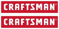"2 Red Sears CRAFTSMAN Tool Box Vinyl Sticker Decals 6"" x 1.5"" each"