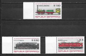 AUSTRIA  - 1977 The 140th Anniversary of Austrian Railroad - MUH  COMPLETE  SET.