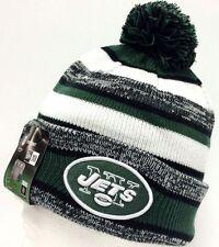 2014-2015 New York Jets NEW ERA NFL SIDELINE SPORT KNIT Cap Beanie Pom