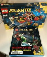LEGO Atlantis Deep Sea Raider (7984) & Atlantis Brickmaster  Book Both Sealed