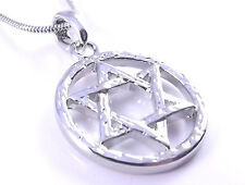Estrella De David Magen Judaica Collar Colgante Joyería Kabbalah Plata Israel Nuevo