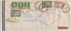 Argentinien Zeppelin Brief Buenos Aires New York USA 1930
