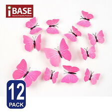 3d Butterfly DIY Wall Decal Removable Sticker Wedding Nursery Self-adhesive Pink