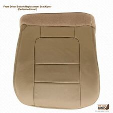 2001 Ford F350 F250 Lariat Driver Side Bottom Leather Seat Cover Parchment Tan