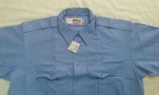 Elbeco Checkpoint Mens L/S Shirt Style U6613 Size Large(16, 18-18.5)) Light Blue