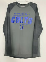 EUC Indianapolis Colts Majestic Long Sleeve Gray Shirt Men's XL Cool Base NFL