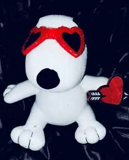 """Plush Peanuts Snoopy Valentine, 6"""" by Whitmans"""