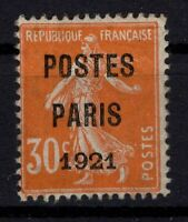 AJ140411/ FRANCE / PRECANCELLED / Y&T # 29 MINT MH CERTIFICATE - CV 690 $