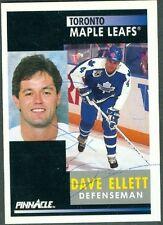 Dave Ellett Auto 1991-92 Pinnacle '91 Signature Autograph Signed #111