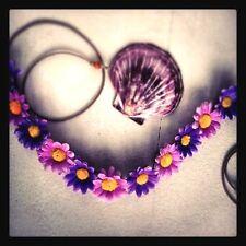 New! Handmade Lavender Shades Daisy Headband Floral Daisy Hairband Violet Purple