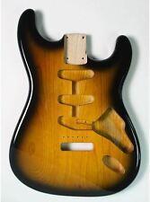 Goeldo bss2t body per Stratocaster, SSS, Swamp Ash, 2-Tone-Sunburst