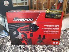 "NEW Snap-on 14.4 V 3/8"" Drive MicroLithium Cordless Screwdriver & Light Kit"