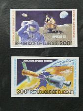 TIMBRES THEME COSMOS SPATIAL : 1980 DJIBOUTI YVERT PA N° 138/39 NEUF Non Dentelé