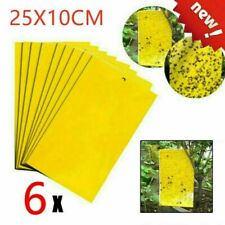 6Pcs Large Yellow Greenhouse Sticky Traps - Catch Multiple Flying Insect Pests