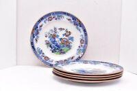 "SET of 4 ANTIQUE COPELAND SPODE ASIAN CHINOISERIE FLOW BLUE 10"" DINNER PLATES"