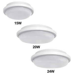 LED Round Surface Mount FLUSHLIGHT BULKHEAD Ceiling Light IP54 Bathroom Porch