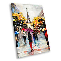 Colourful Retro Paris Cool Portrait Scenic Canvas Wall Art Large Picture Prints