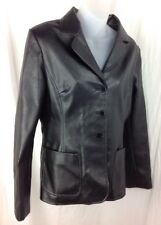 RAMPAGE Black Vegan Faux Leather Womens L / XL Blazer Jacket  Fitted Car Coat