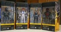 "Star Wars The Black Series 6"" Walmart Exclusives The Clone Wars Lot (4)"