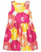 Gymboree Dress 4 5 6 Fruit Punch Floral Cotton Dress NWT Pink Yellow Flowers