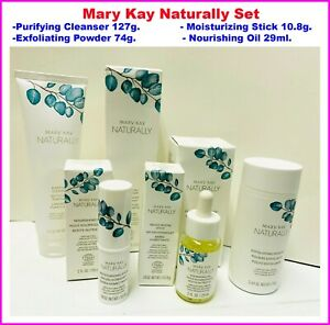 Mary Kay Naturally Set Purifying Cleanser Nourishing Oil Exfoliating Powder
