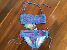 Girls NWT Roxy Beach Rose Bandeau Bikini Size 10