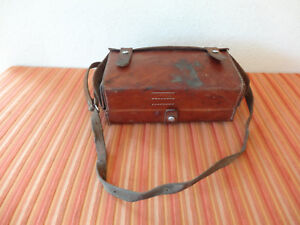 RAR Swiss SBB CFF conductor leather paramedic bag ~1940 Switzerland railway