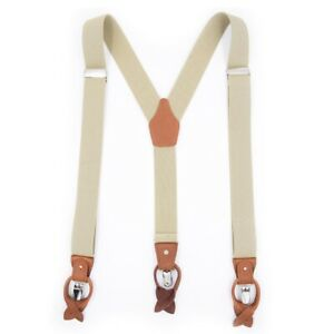 Adjustable Braces Men Vintage Trouser Elastic Y-Back Suspenders 49x1.37 inch