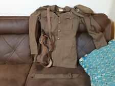 british mandate palestine militarypolice jacket named and dated 1945 with hat