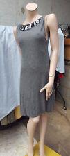 Vestido Corto Zara encantador M Gris Con Plata Y Negro Lentejuelas Reino Unido 10