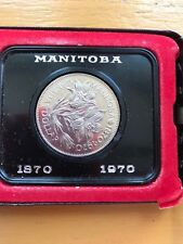 Solid Silver Royal Canadian Mint Centenary Coin Manitoba 1870-1970