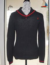 Polo Ralph Lauren Pullover Sweater Boy's Large Shawl Collar Black 100% Cotton