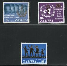 Zambia  (1968)  - Scott # 52 - 54, MH