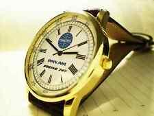 Pan Am Airways, Boeing 747 Wrist Watch, Retro 1960-70's Vintage Dial.
