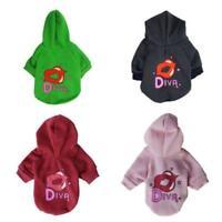DIVA Lips Hoodie Dog Pet Coat Red Sweatshirt XS S M L Extra Small Medium Large