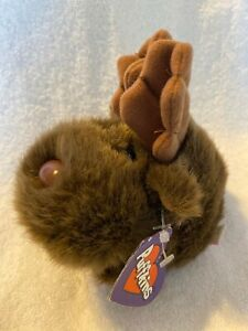 """Gus the Moose with Antlers Puffkins Bean Bag Plush 1994 5"""""""
