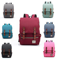 Girl boy Shoulder Canvas Backpack Outdoor School Laptop College Bag Rucksack