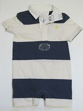 NWT Ralph Lauren One Pc Collared Rugby Creeper Romper Baby Infant Boys 9 M