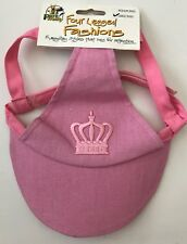 Pink Princess Sun Hat for Large Dogs Four Legged Fashions by Pet Frenzy NWT