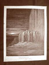 Incisione di Gustave Dorè del 1890 Alberto Scaligero Divina Commedia Purgatorio