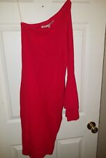 Rachel Roy Red Sexy One Bell Sleeve Dress