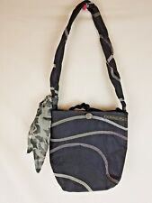"""A Vintage Bag"" Hand Made Purse Vintage Button Matching Scarf Unique Black Gray"