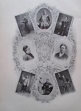Ernst und Helene Hartmann - Originaldruck aus ca 1900 Oper Hoftheater Wien