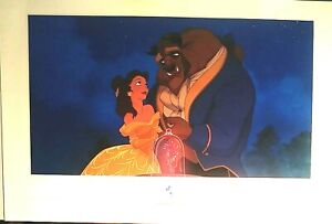 """BEAUTY AND THE BEAST DISNEY MGM STUDIOS ANIMATION GALLERY PRINT, 36x24"""" NEW MINT"""
