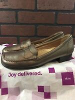 Trotters Women's Brown Leather Slip On Comfort Loafers Shoes Size 9 N